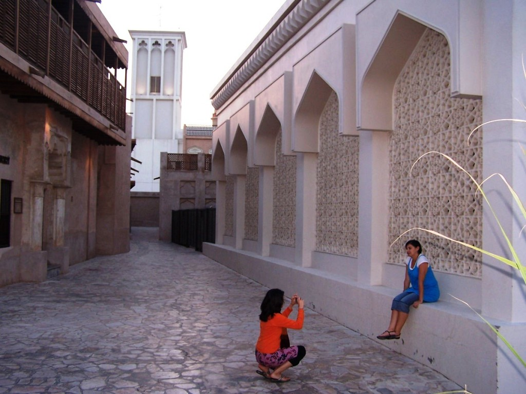 Tourists Caught in the Act of Photography, Al Bastakiya, Dubai: f2.8; 1/60sec