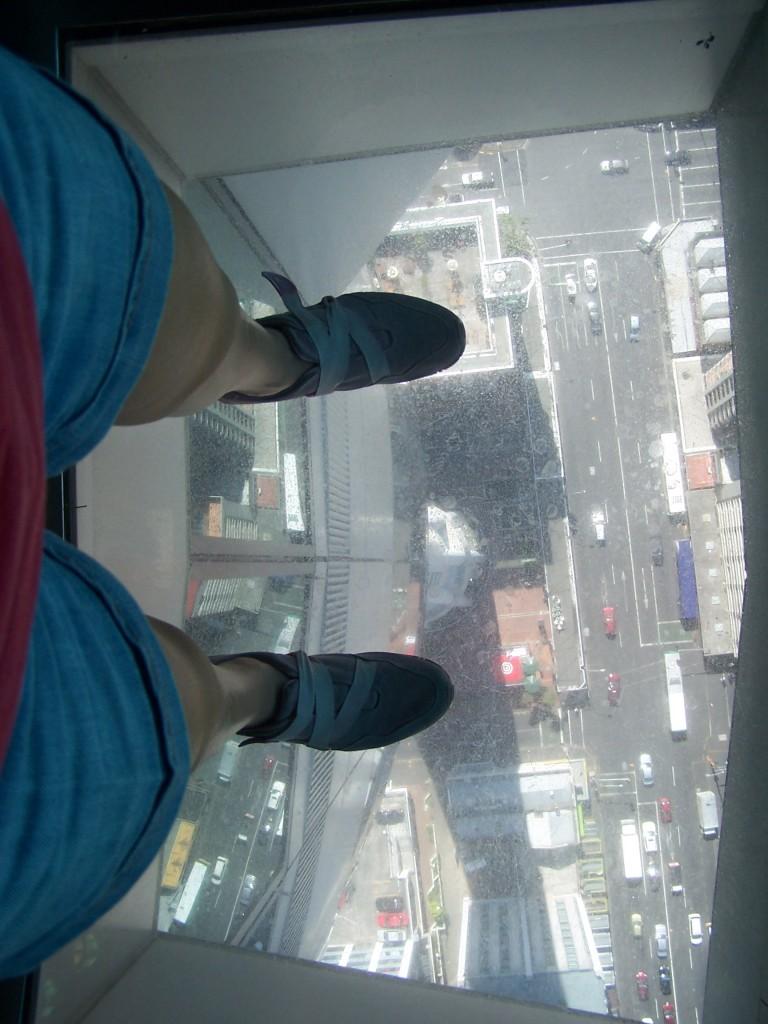 Sky Tower Observation Deck glass flooring: f/2.8; 1/500sec