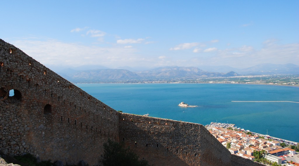 View from Palamidi Castle upon Nafplion: f/10; Exposure 1/250sec; ISO-180