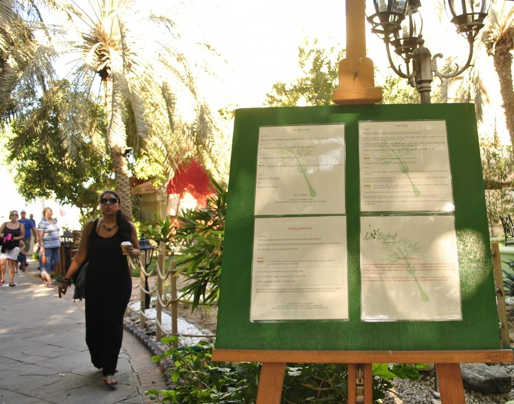 Le Bistrot @ Le Meridien Abu Dhabi Sustainable Cuisine Menu Board: f/4; 1/80sec; ISO-100
