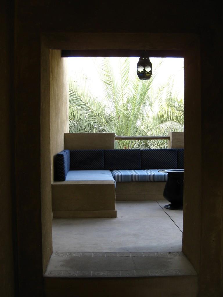 Shaded walkways and courtyards of Bab Al Shams: f/2.8; 1/80sec; ISO-80
