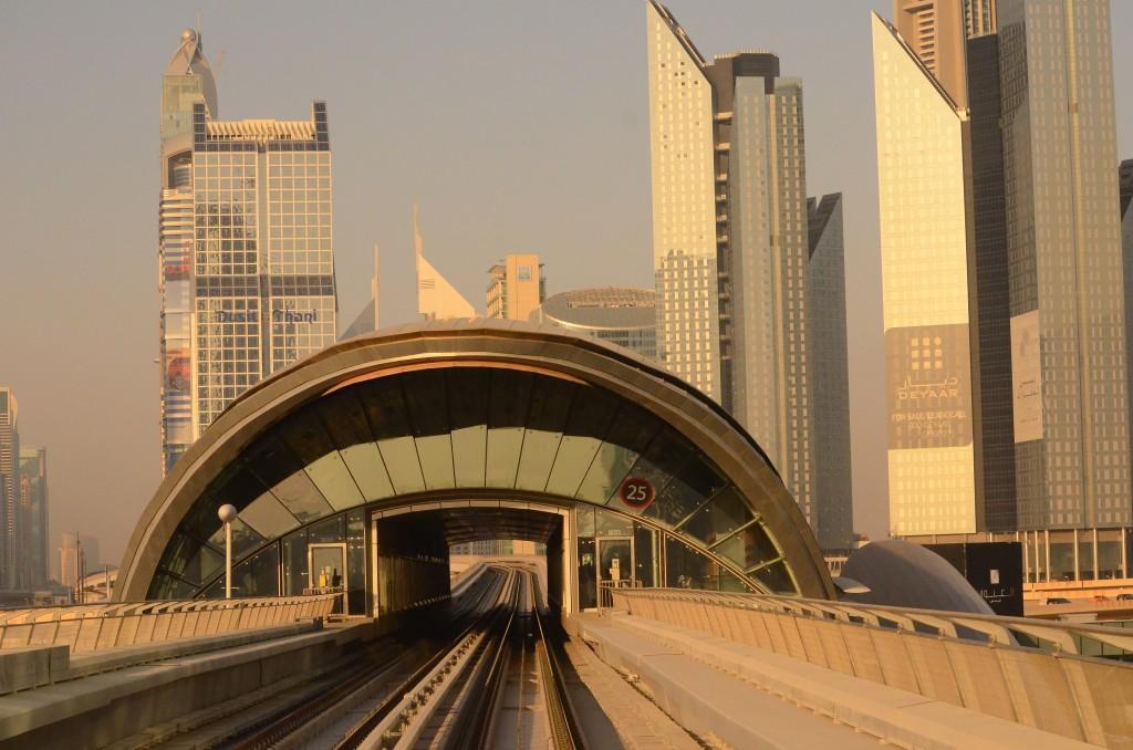 "Dubai Metro on 26th January ""Australia Day"": f/8; 1/6400sec; ISO-3200"