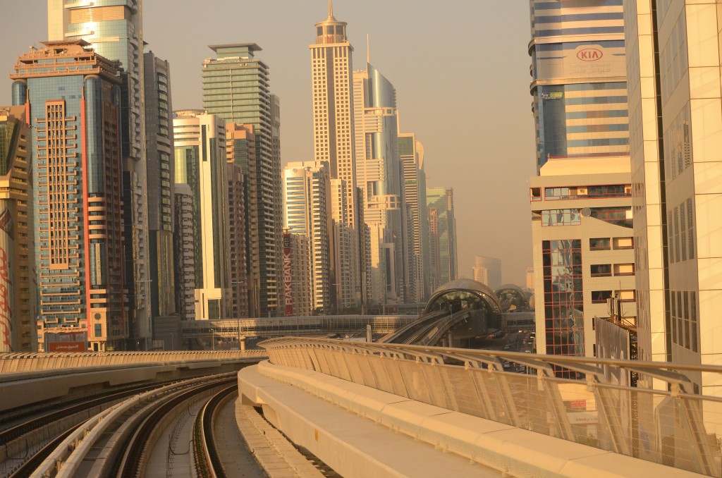"Dubai Metro on 26th January ""Australia Day"": f/5; 1/6400sec; ISO-1600"