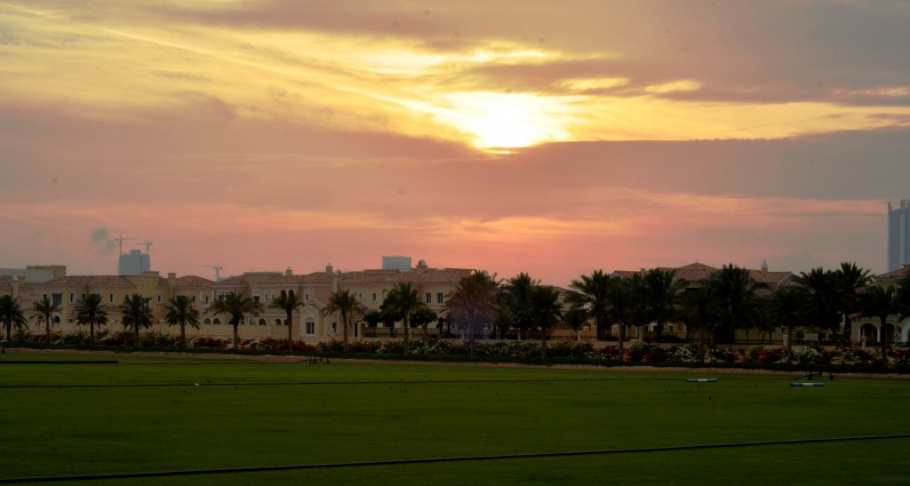 Dubai's Polo & Equestrian Club: the view from our seats over the polo fields: f/16; 1/80sec; ISO-250