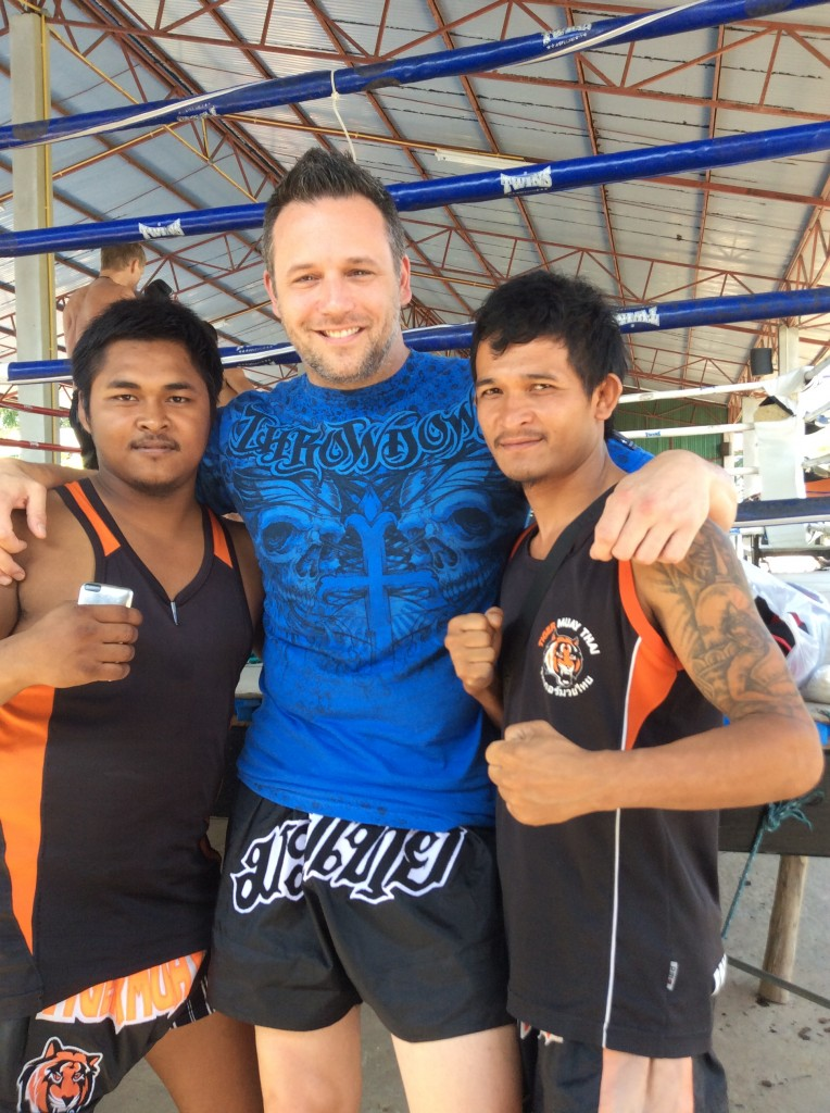 Erroll and his training mates at Tiger Muay Thai, Phuket - January 2014