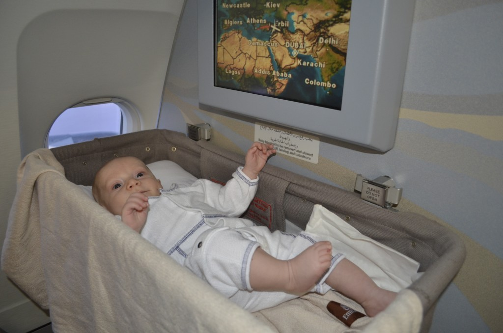 Kingsley's first international flight: Dubai to Athens, February 2014