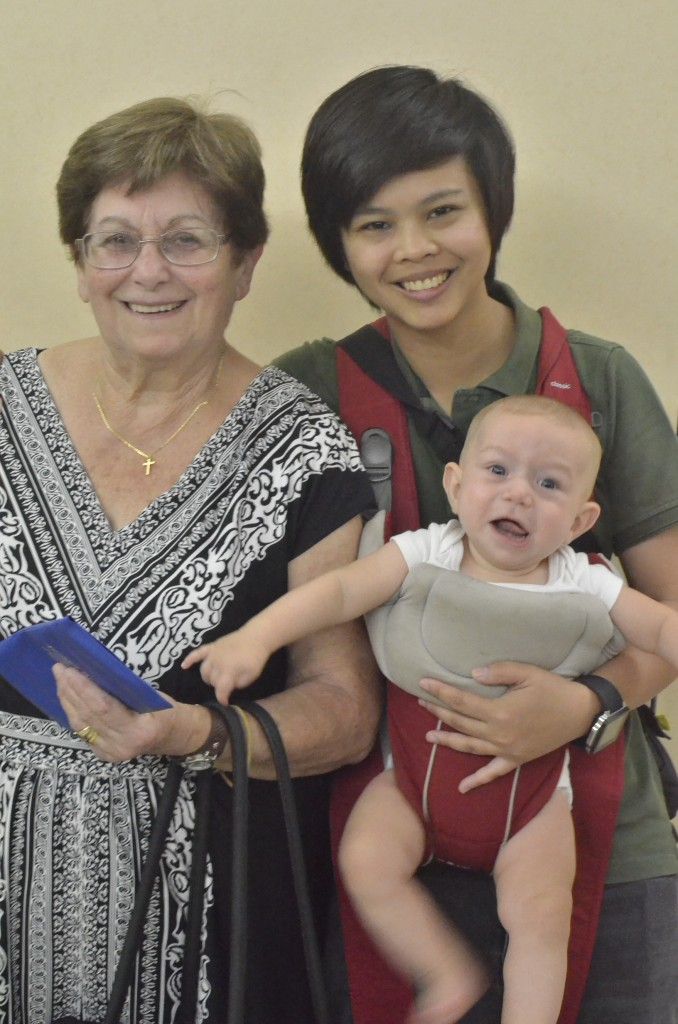 Jiajia Dora, Nurse Jinky and the cranky little man, aged exactly one week short of his 6 months