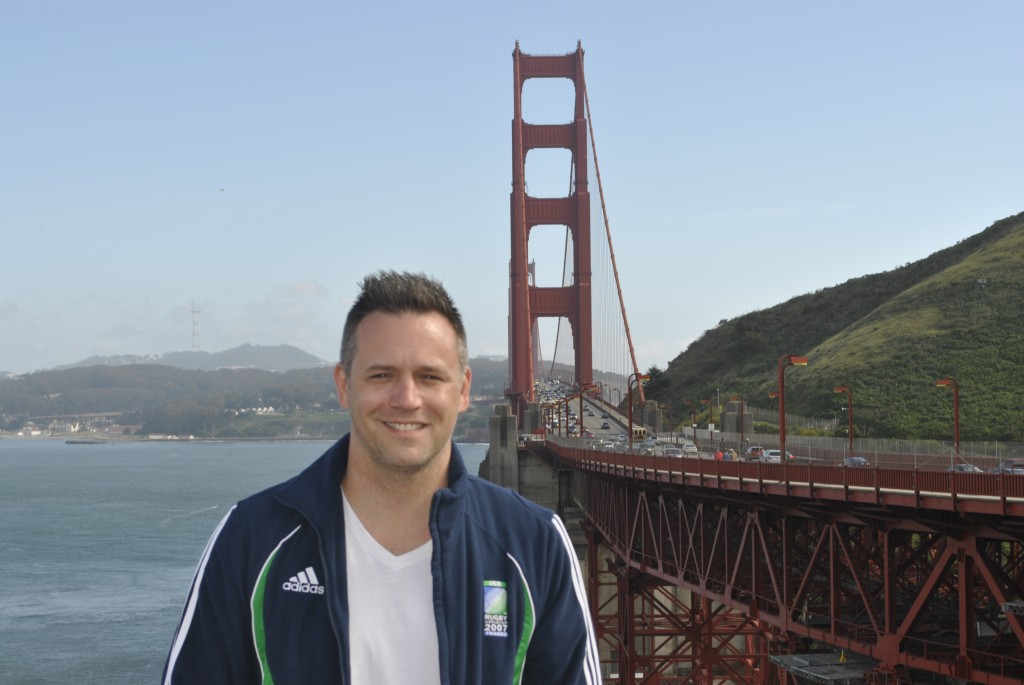 Erroll on a layover in San Francisco, touring the town. At the Golden Gate Bridge. May 2014