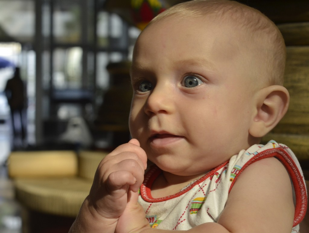 Kingsley at 5 months, Dusit Thani Hotel Dubai, May 2014