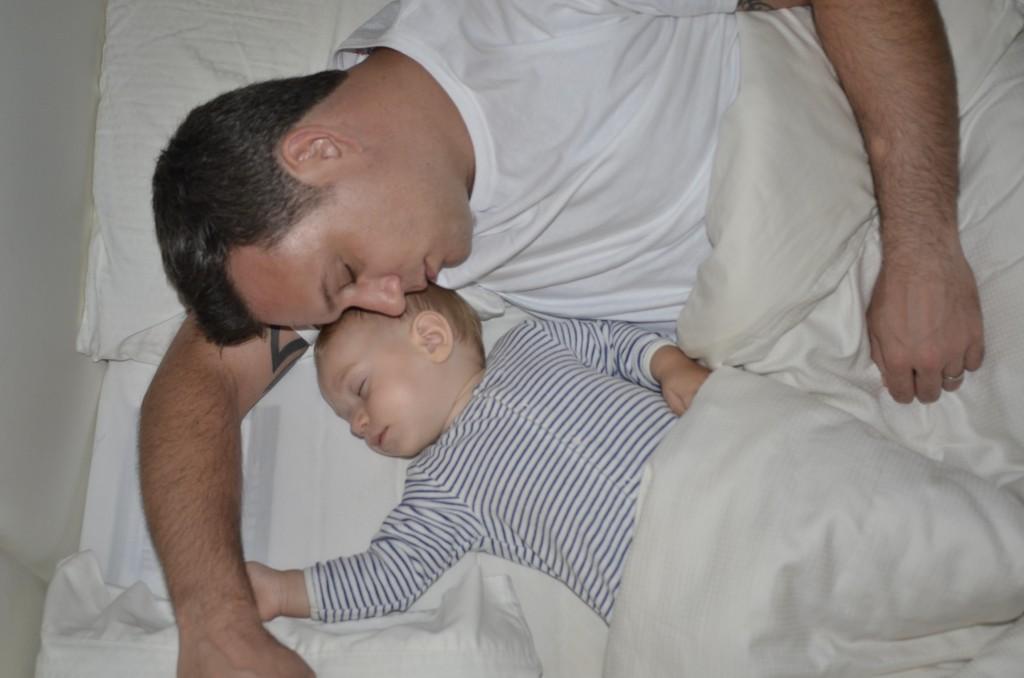 King and Erroll fast asleep in Dubai