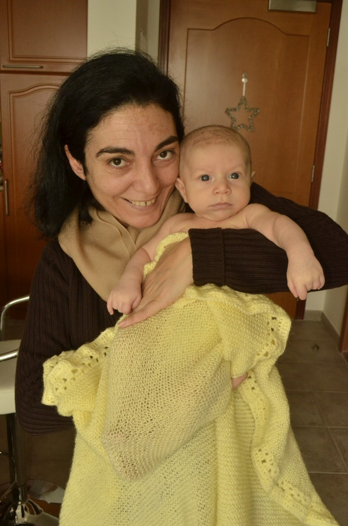 Lena with our Kingsley who was one week short of 2 months of age