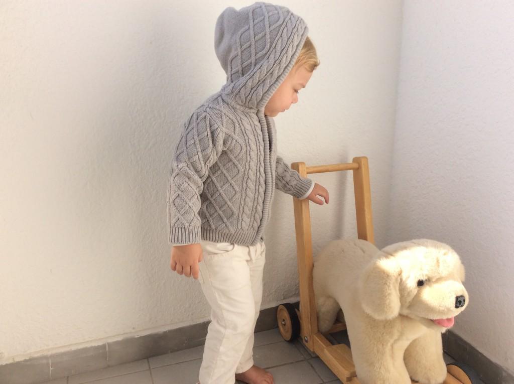 Little Dutch boy with his Finnish dog