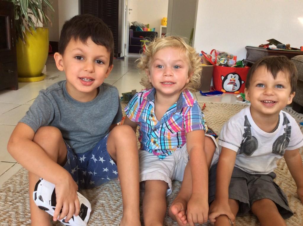 The Badawi boys Leo and Koa