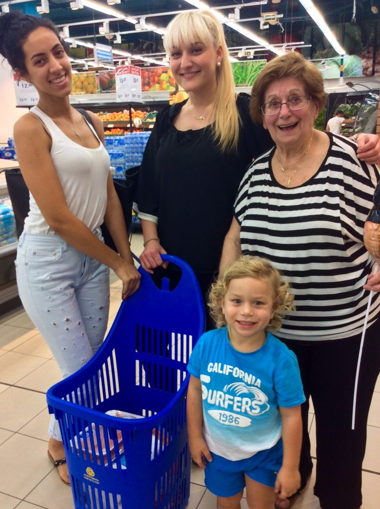Greeks in the Satwa Co-Op grocery store
